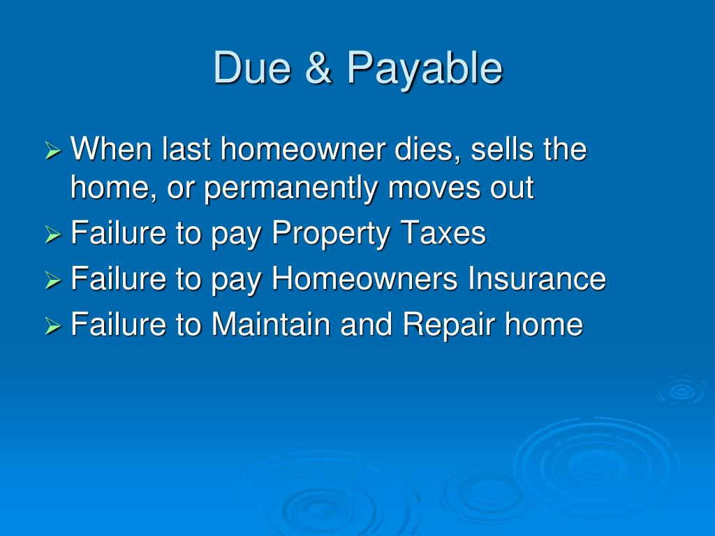 Due & Payable