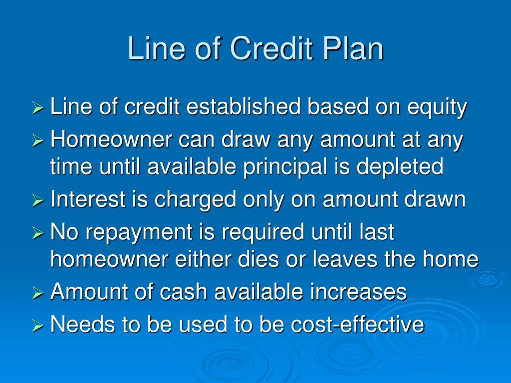Line of Credit Plan