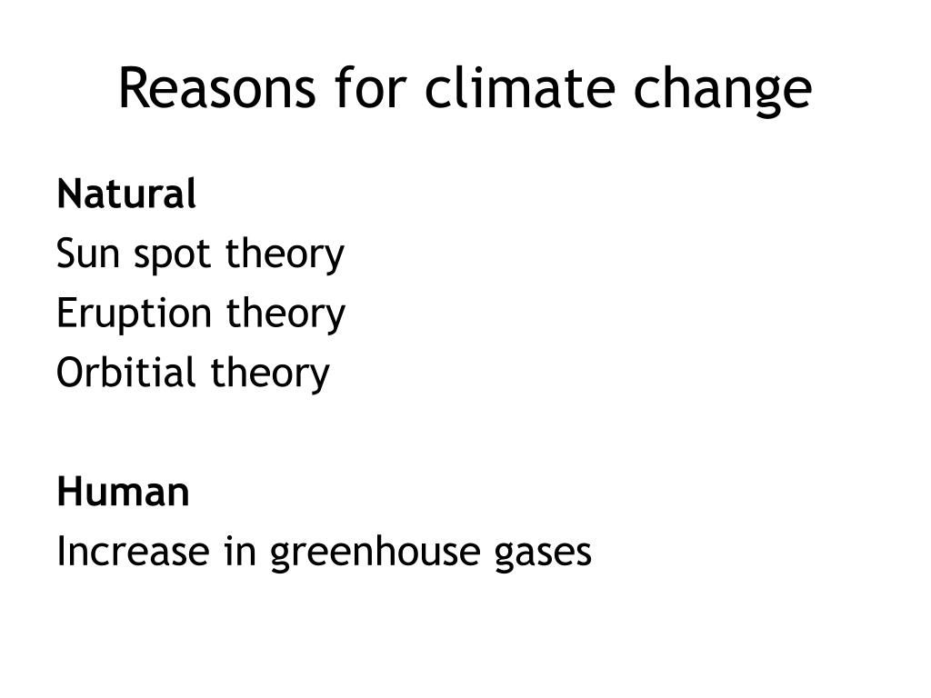 Reasons for climate change