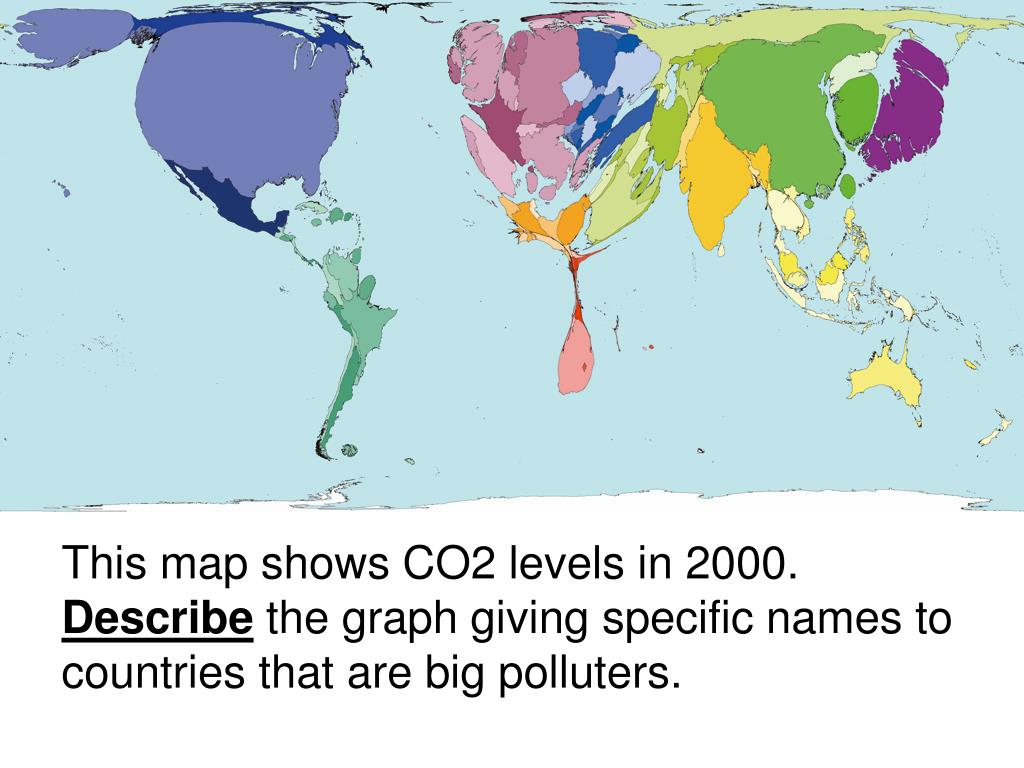 This map shows CO2 levels in 2000.