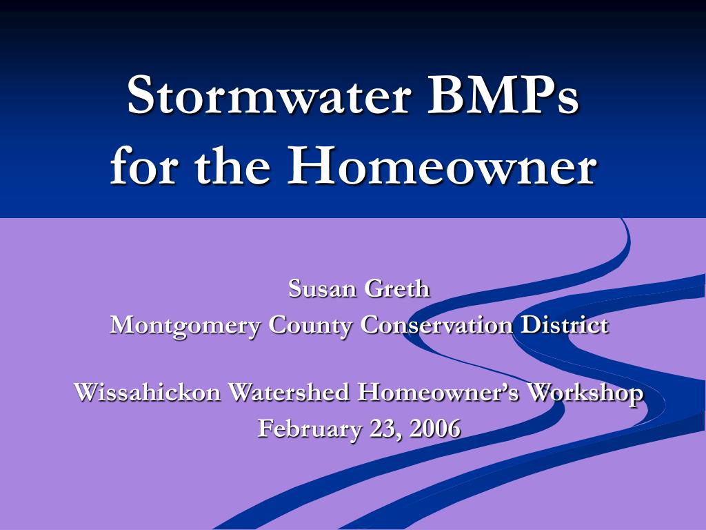 stormwater bmps for the homeowner l.