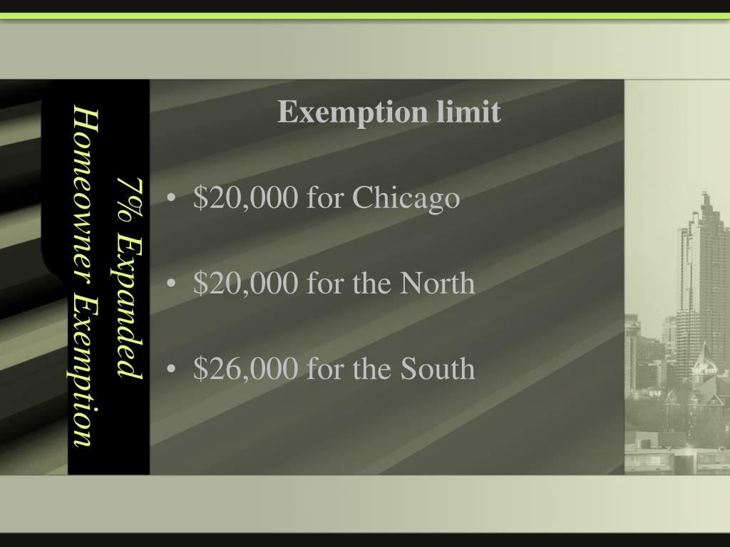 7% Expanded Homeowner Exemption