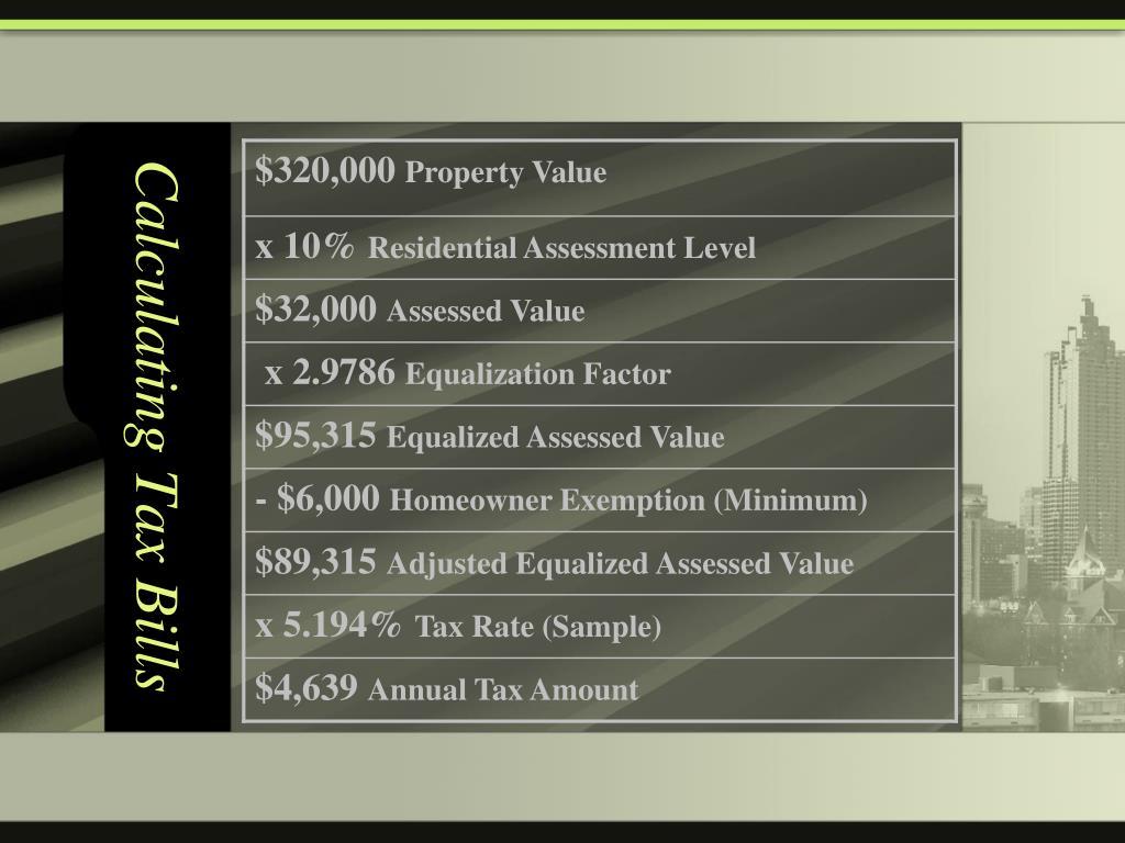 Calculating Tax Bills