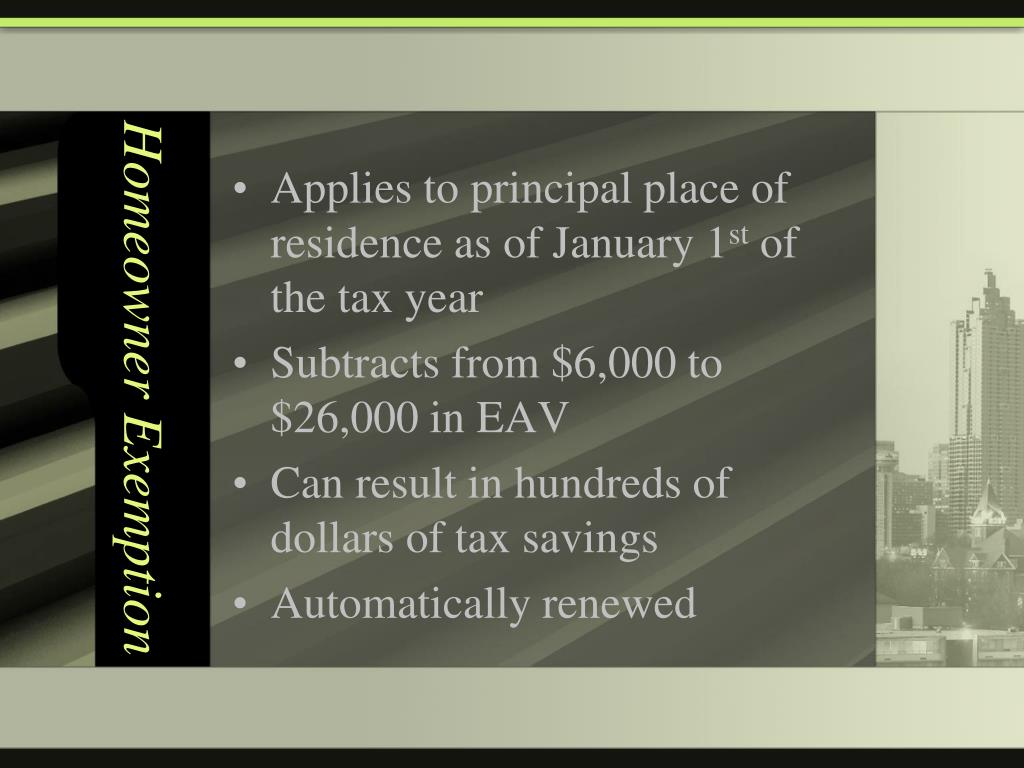 Homeowner Exemption