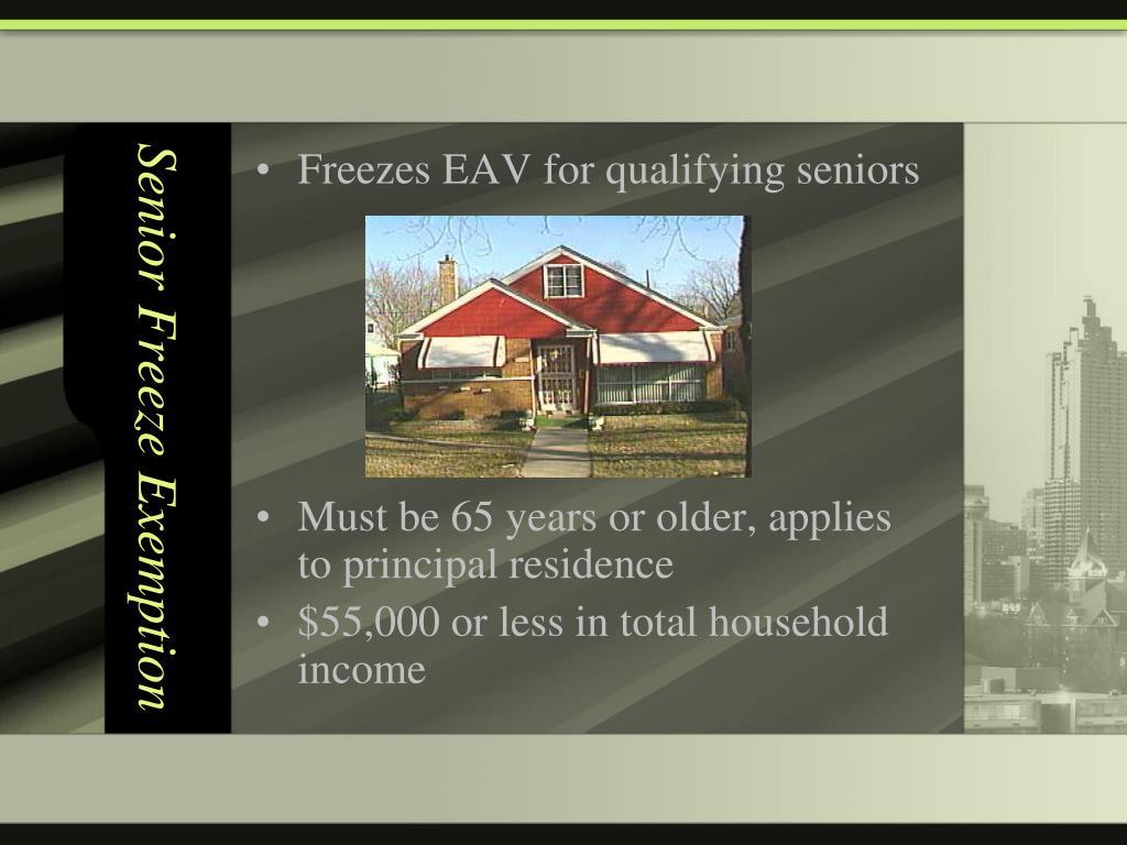 Senior Freeze Exemption