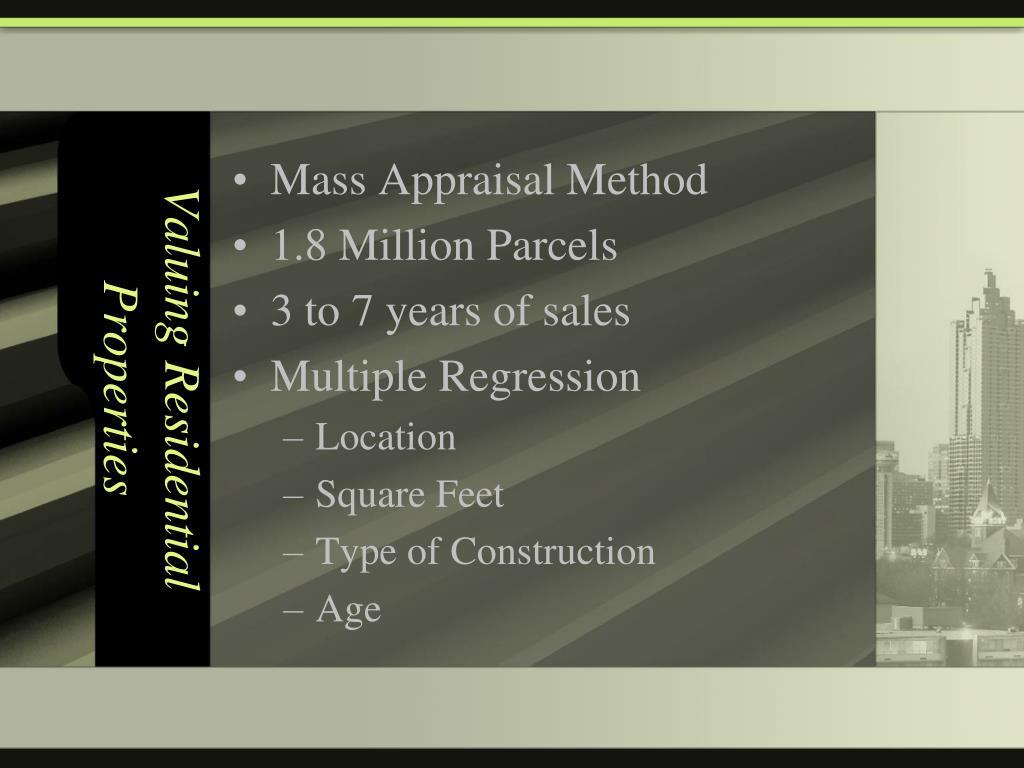 Valuing Residential Properties
