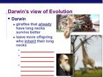darwin s view of evolution