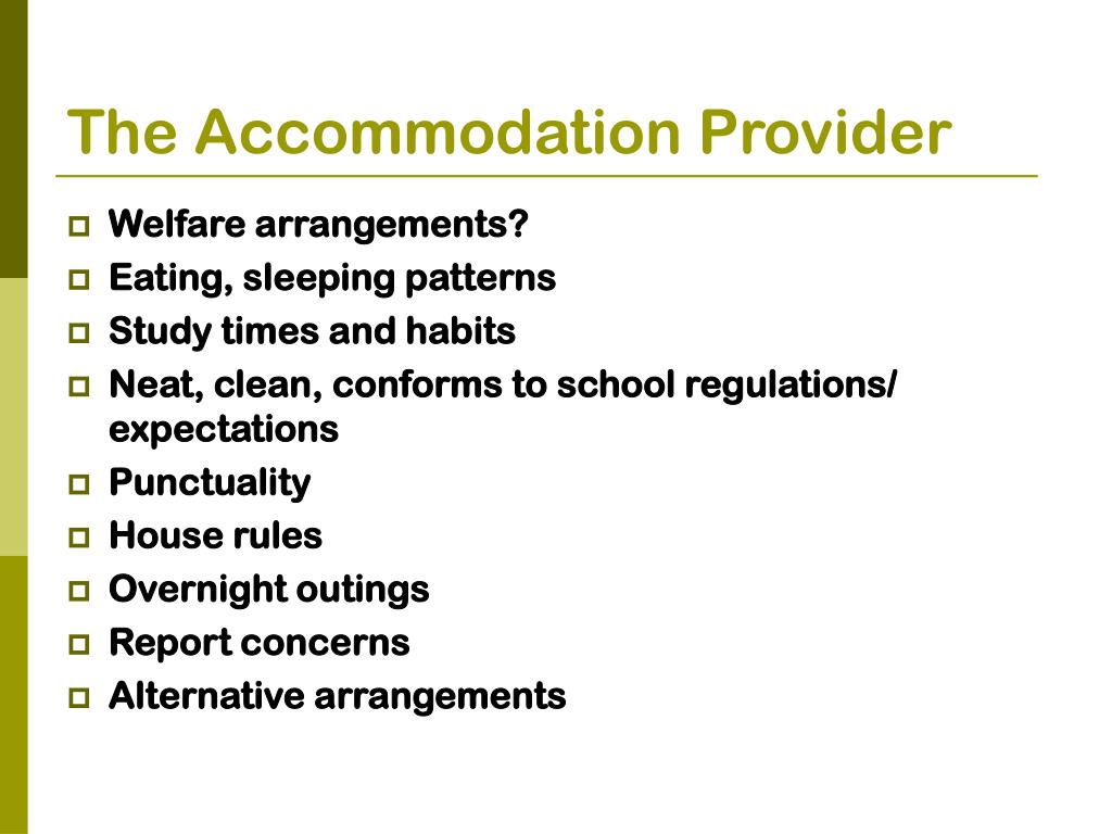 The Accommodation Provider