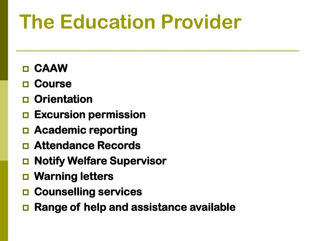 The Education Provider