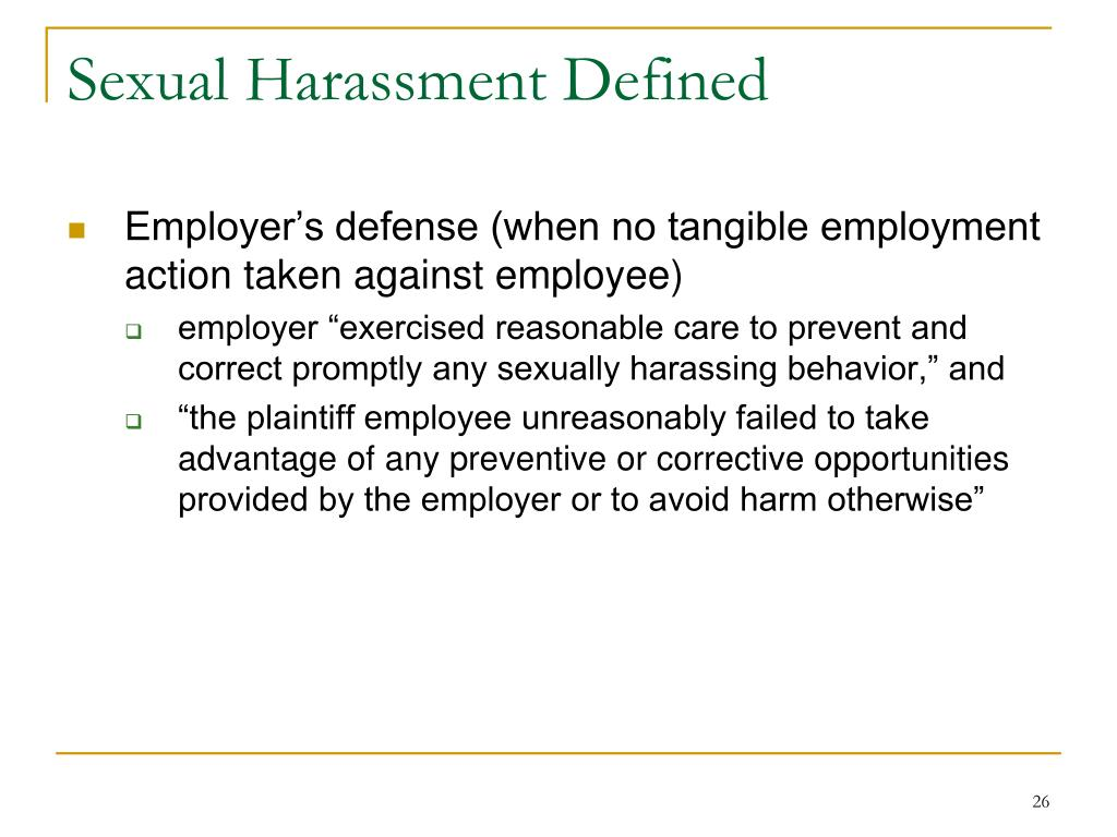 Sexual Harassment Defined