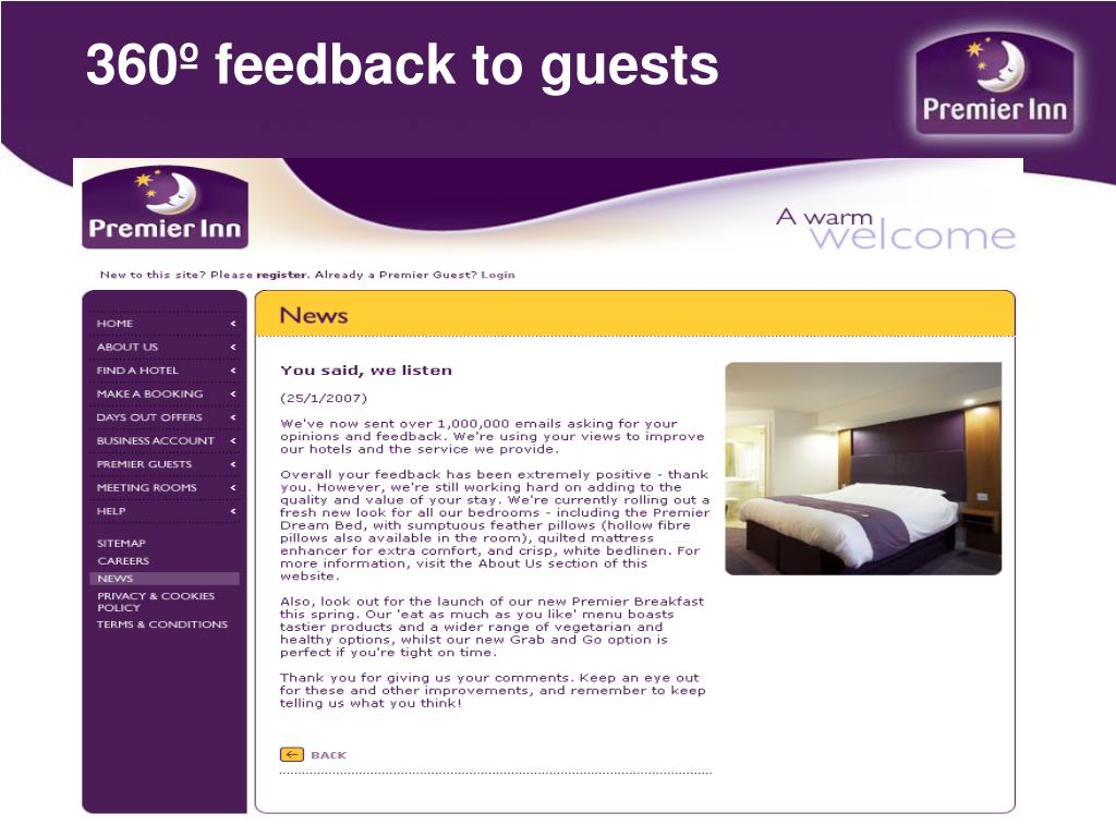 360º feedback to guests