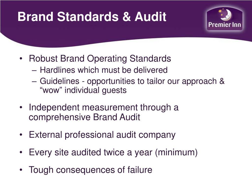 Brand Standards & Audit