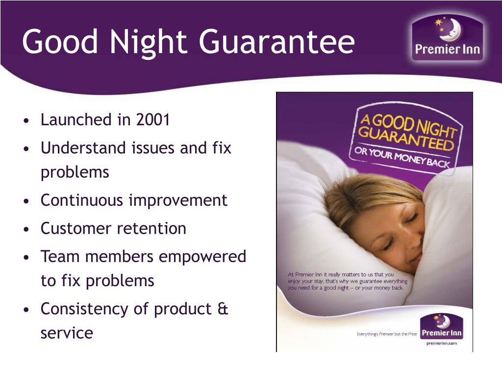 Good Night Guarantee