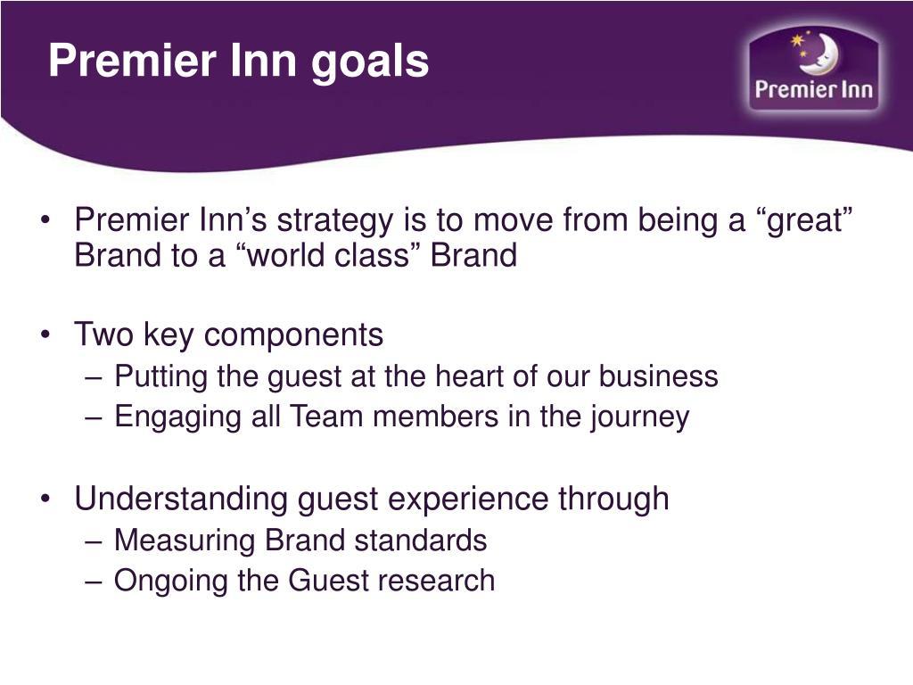 Premier Inn goals
