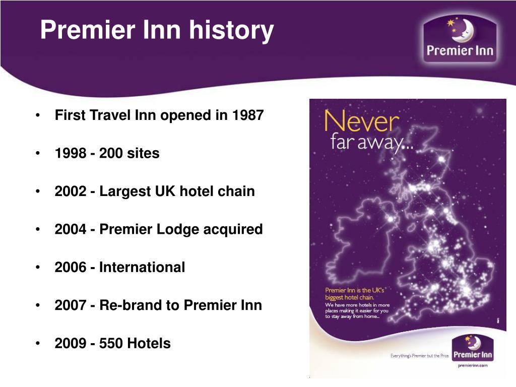 Premier Inn history