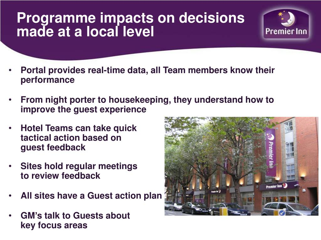 Programme impacts on decisions