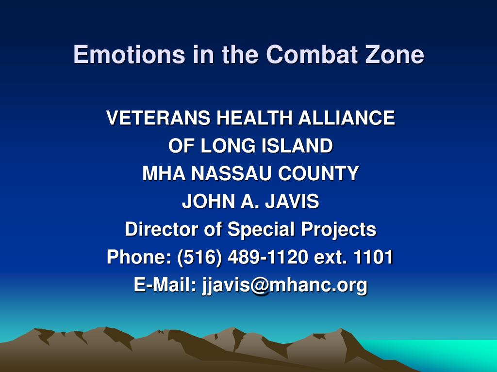 Emotions in the Combat Zone