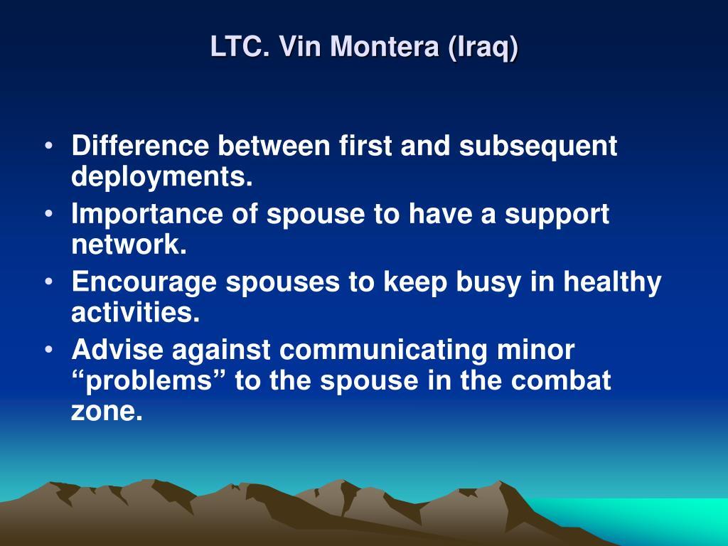 LTC. Vin Montera (Iraq)