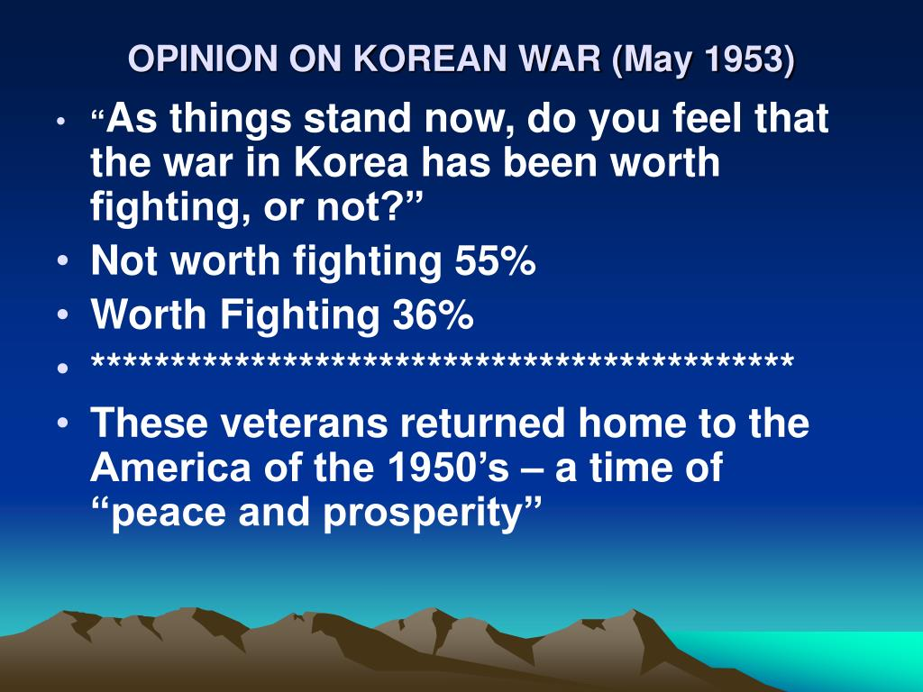 OPINION ON KOREAN WAR (May 1953)