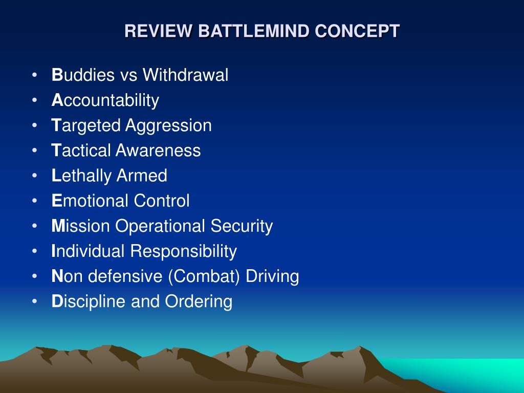 REVIEW BATTLEMIND CONCEPT