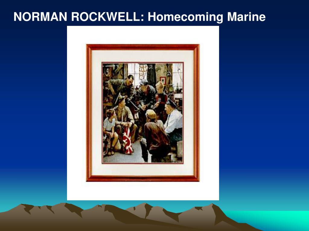 NORMAN ROCKWELL: Homecoming Marine