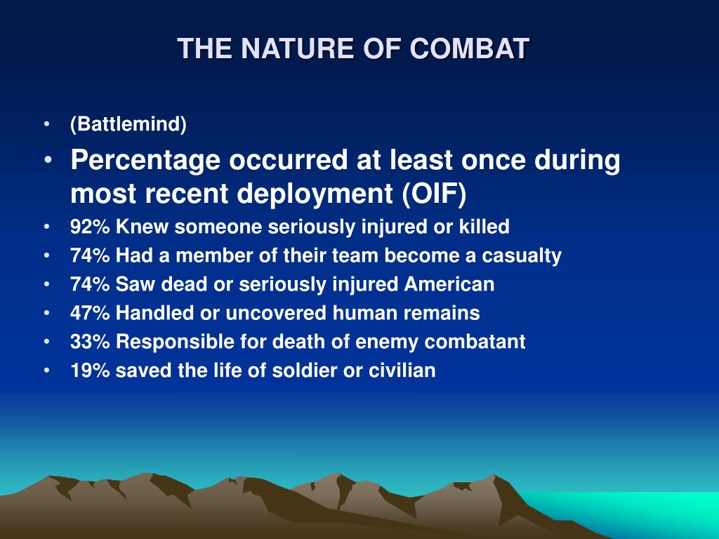 THE NATURE OF COMBAT