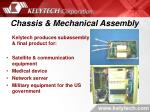 chassis mechanical assembly