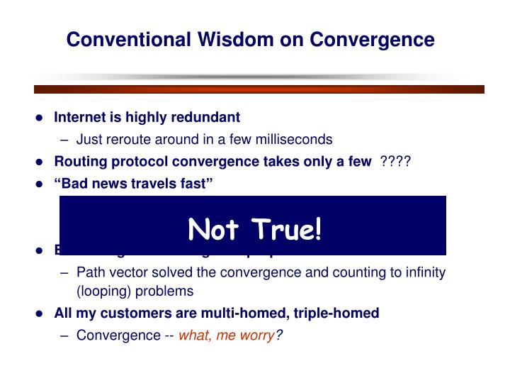 Conventional Wisdom on Convergence