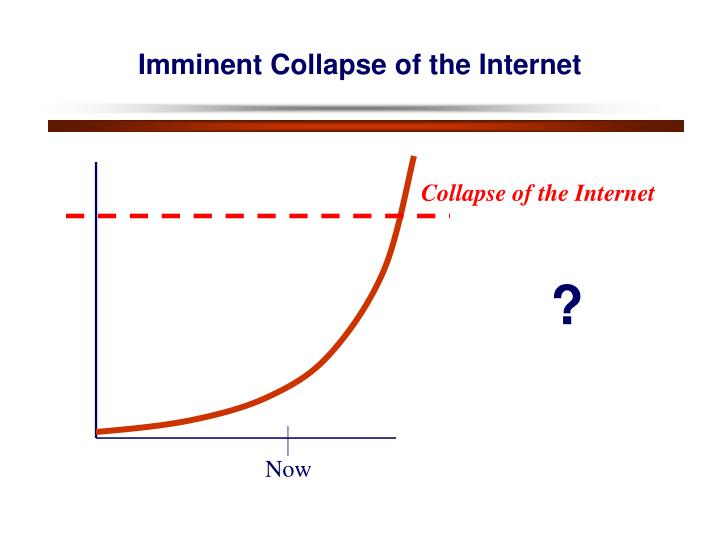 Imminent Collapse of the Internet