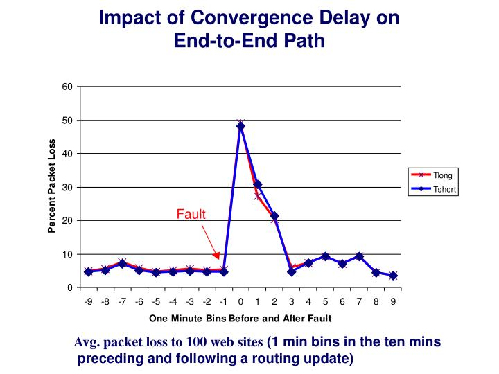 Impact of Convergence Delay on