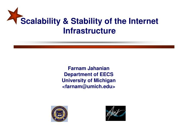 Scalability stability of the internet infrastructure