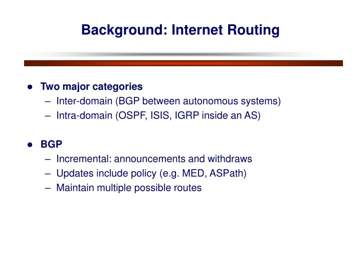 Background: Internet Routing