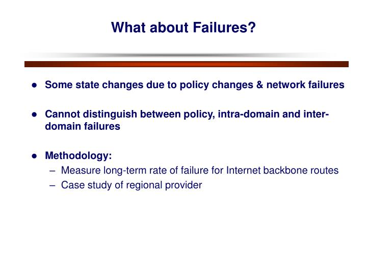 What about Failures?
