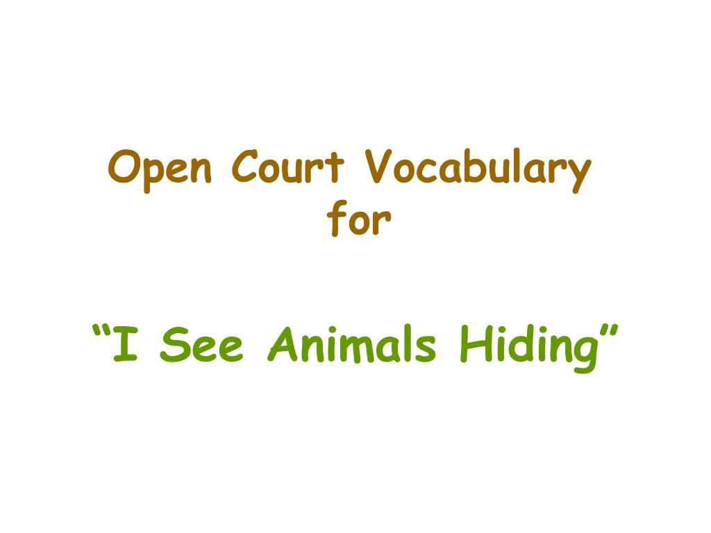 Open Court Vocabulary