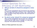 critical questions for the efficiency of csp backtracking51