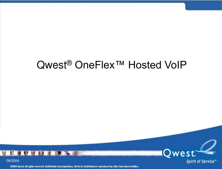 qwest oneflex hosted voip n.