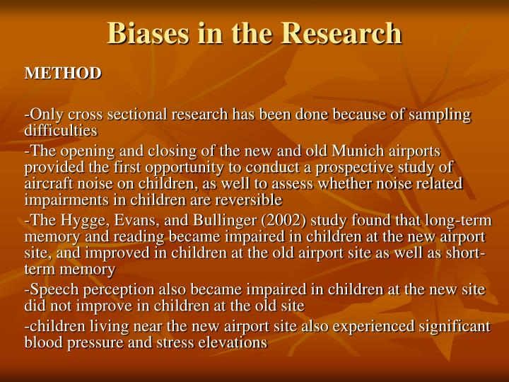 Biases in the Research