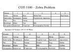 cot 3100 zebra problem8