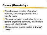 cases casuistry