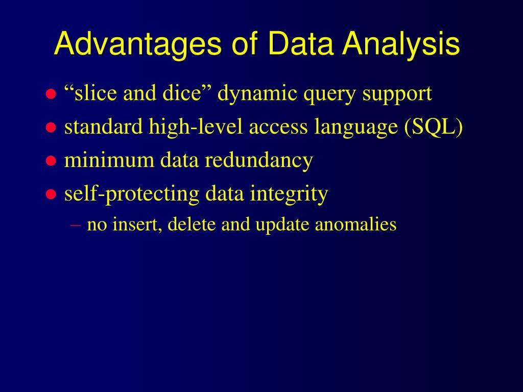 Advantages of Data Analysis