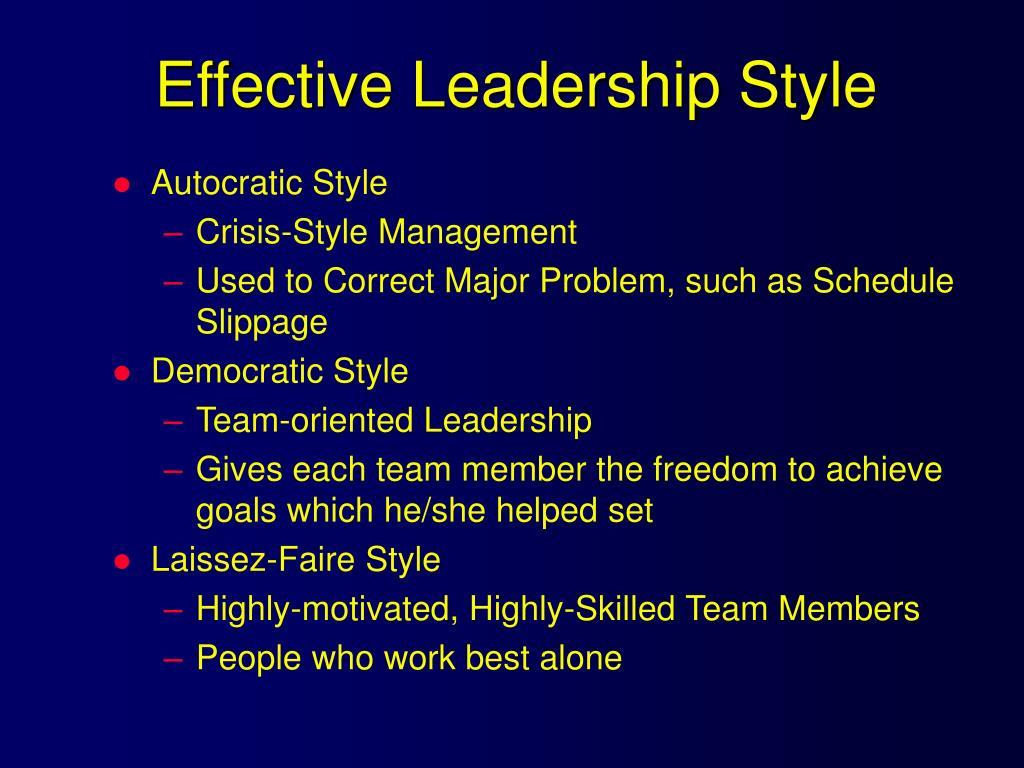 Effective Leadership Style