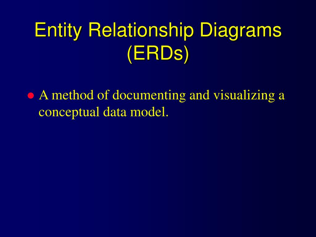 Entity Relationship Diagrams (ERDs)