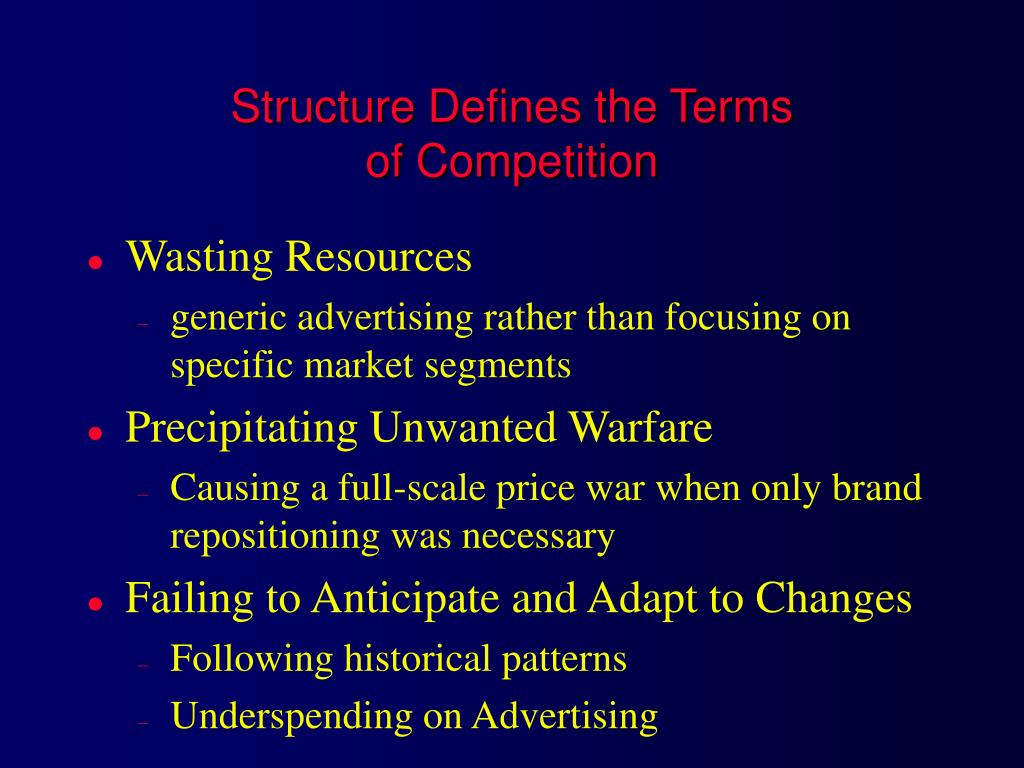 Structure Defines the Terms