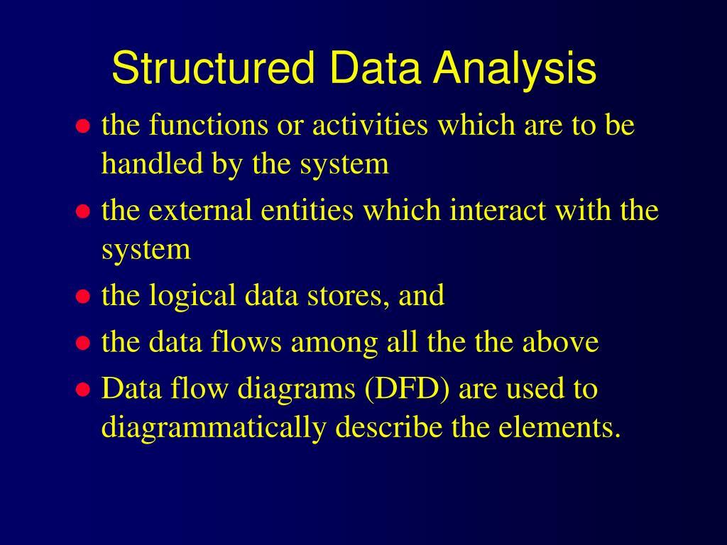 Structured Data Analysis