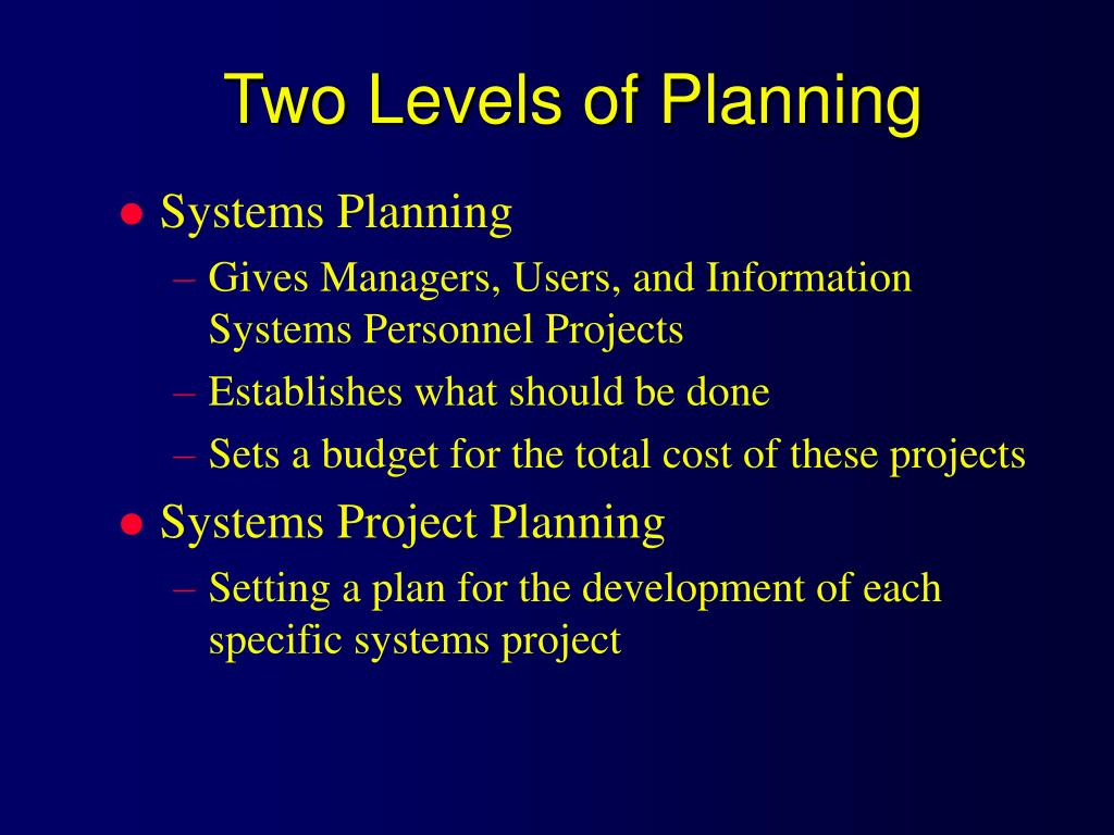 Two Levels of Planning