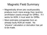 magnetic field summary