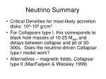 neutrino summary