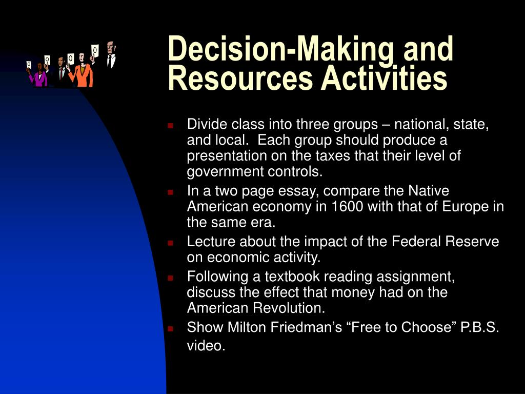 Decision-Making and Resources Activities