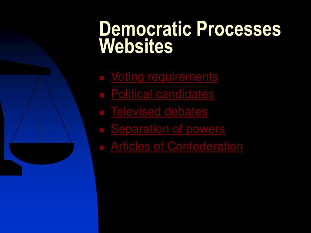 Democratic Processes Websites