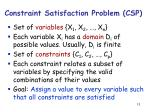 constraint satisfaction problem csp